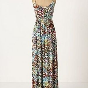 Anthropologie, Deletta Sheet and Print Maxi Dress